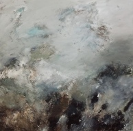 Acrylique, cendre sur toile: 80/80 cm